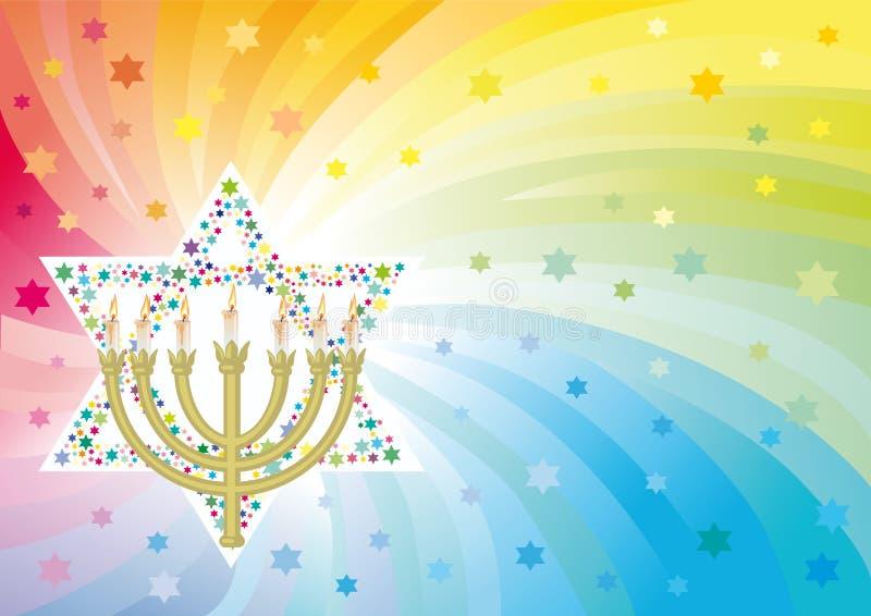 Froher Hintergrund zum jüdischen Feiertag vektor abbildung
