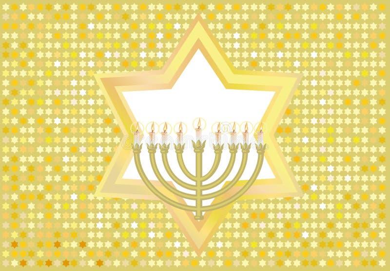 Froher Hintergrund zum jüdischen Feiertag stock abbildung