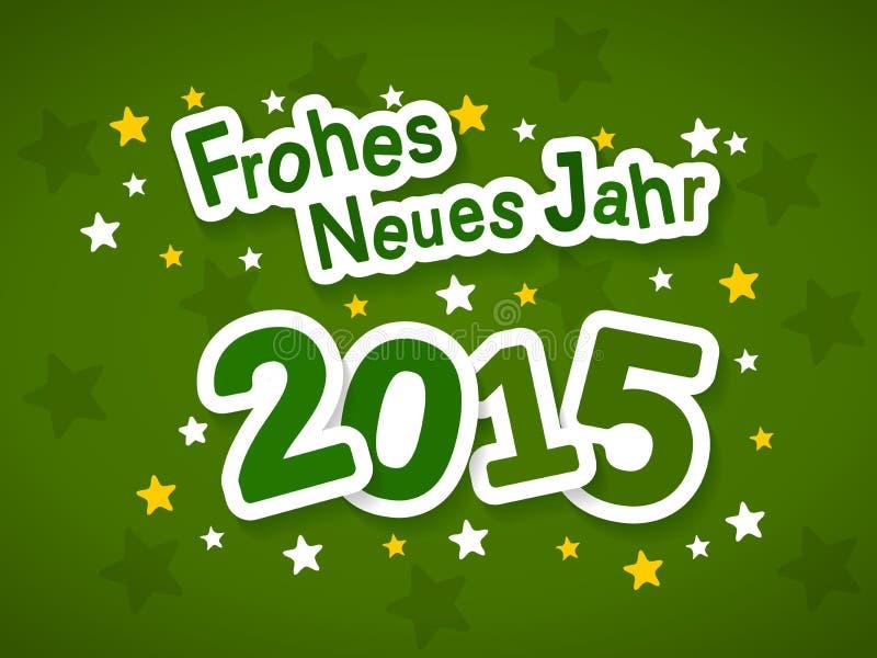 Frohes Neues Jahr 2015 ilustracji