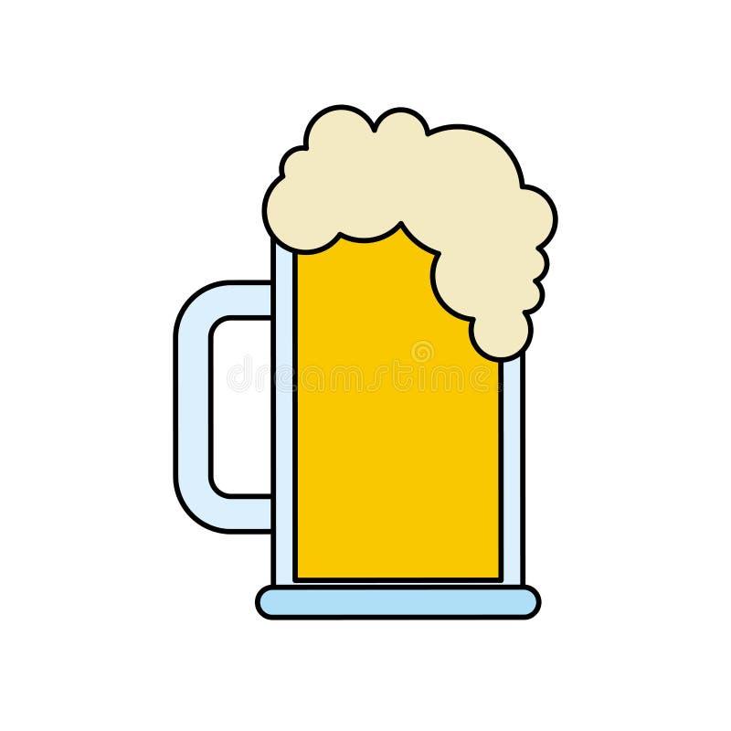 Froid de boissons de mousse en verre de bière isolsted illustration stock