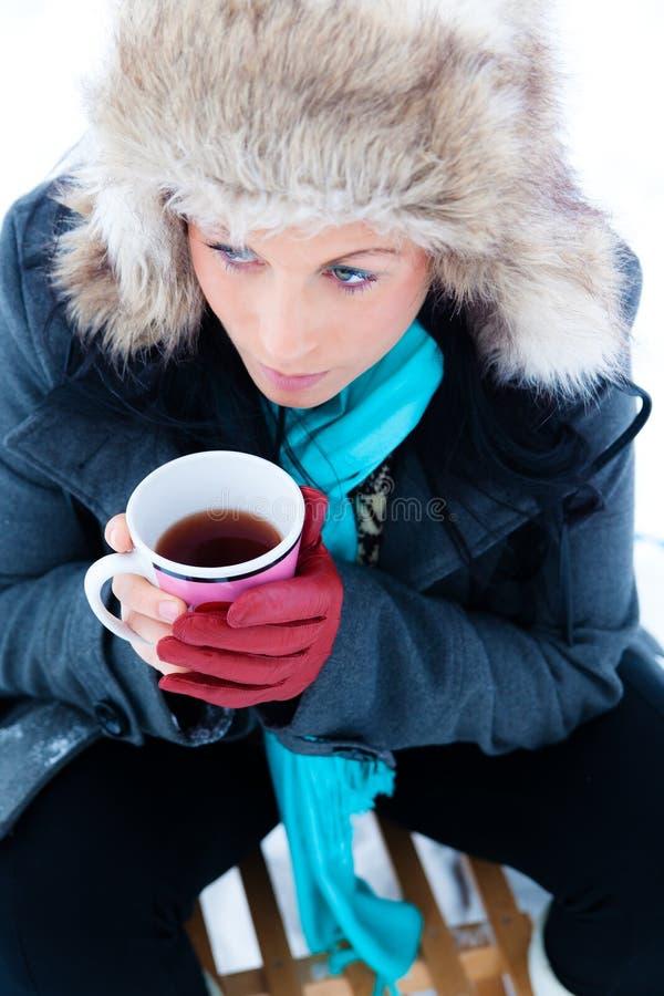 Froid de cuvette de l'hiver image stock