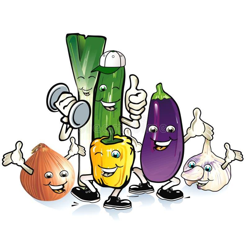 frolic till grönsaken royaltyfri illustrationer