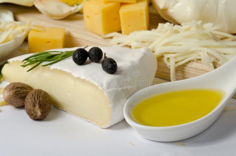Fromage avec l'épice photos stock