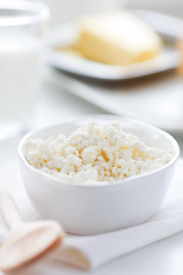 Fromage blanc frais image libre de droits