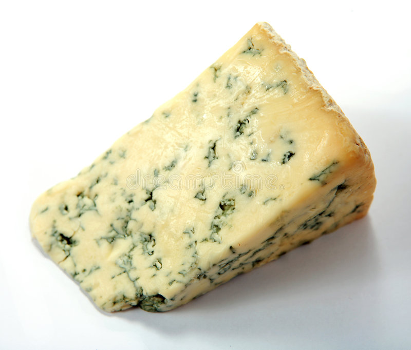 Fromage bleu anglais de Stilton photographie stock libre de droits