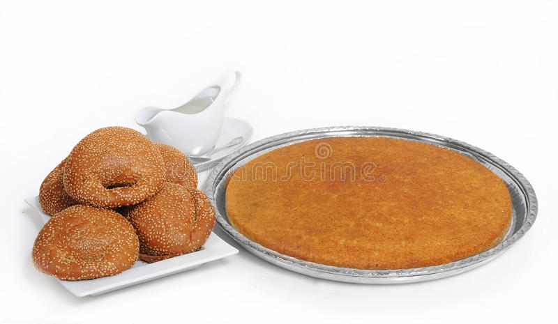 Fromage bourré par kunafeh libanais Arabe de bonbons image stock