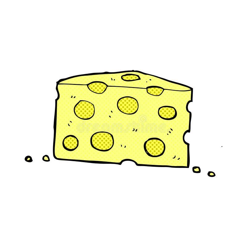 fromage comique de bande dessinée illustration de vecteur