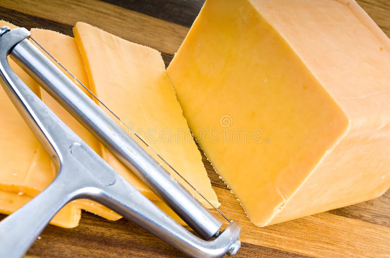 Fromage de Chedar image stock