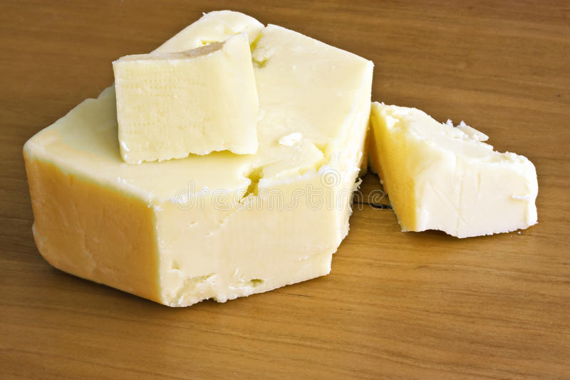 Fromage de cheddar blanc photo stock