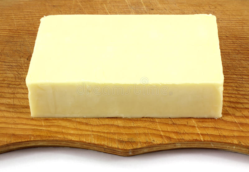 Fromage de cheddar blanc pointu photo libre de droits