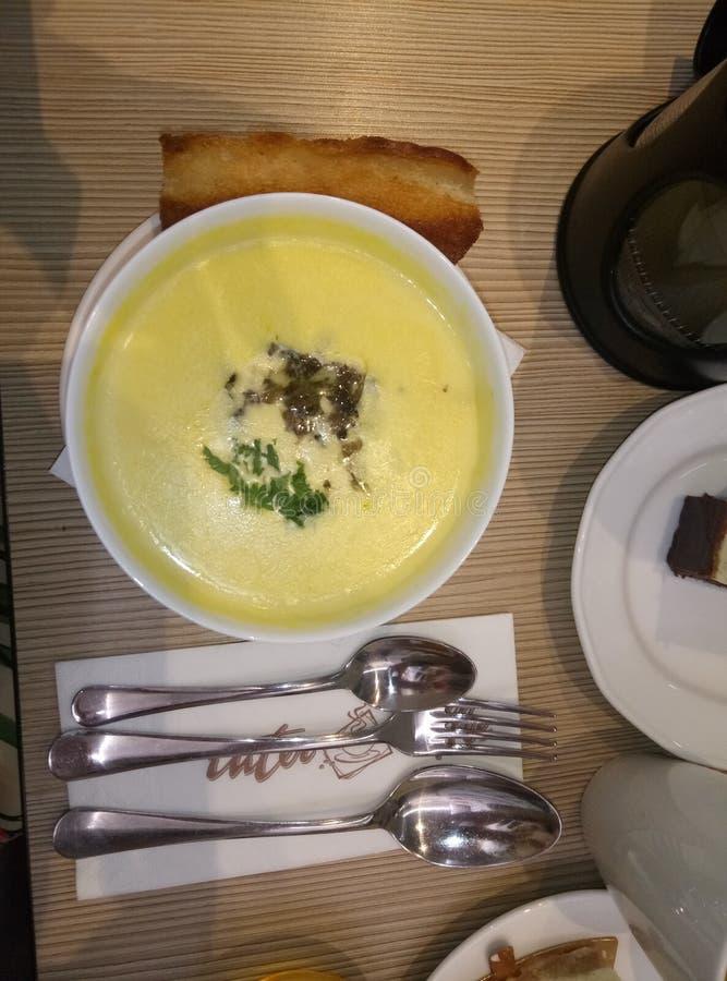 fromage de soupe à nourriture photos stock