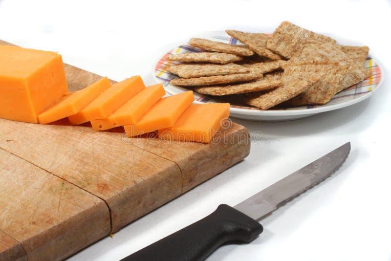 Fromage et casseurs photographie stock