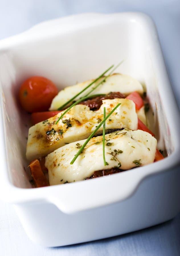 fromage Four-grillé de Halloumi images stock