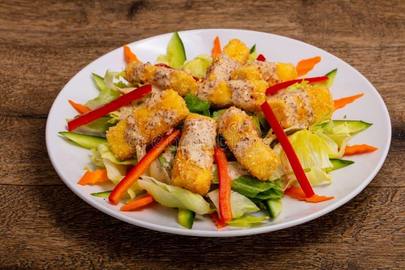 Fromage frit de tofu images libres de droits