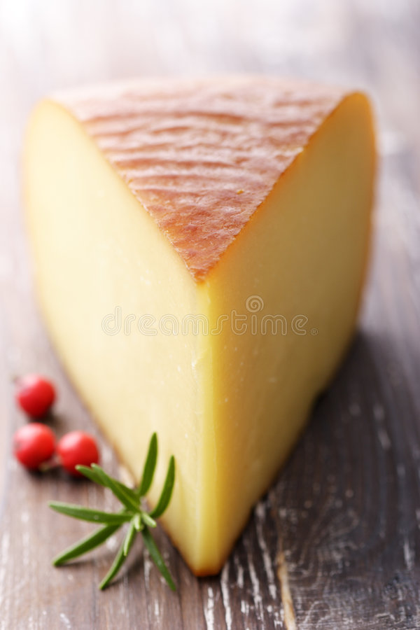 Fromage fumé photographie stock