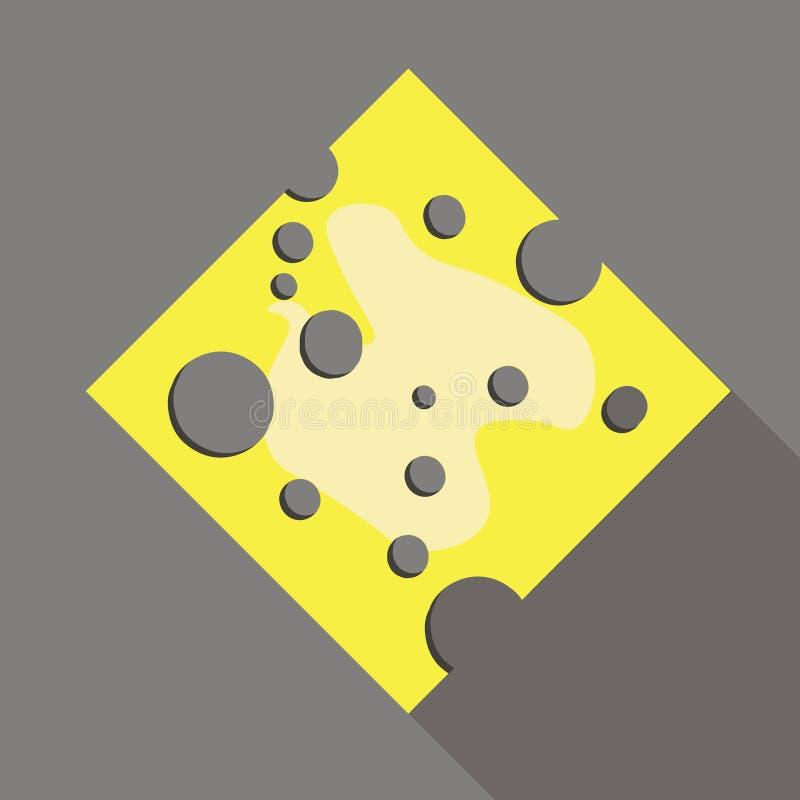 Fromage jaune de morceau illustration stock