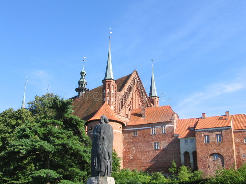 Download Frombork With Statue Of Copernicus Stock Images - Image: 218534