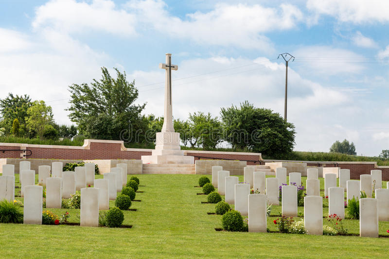 Download Fromelles Military Cemetery Stock Image - Image: 35185245