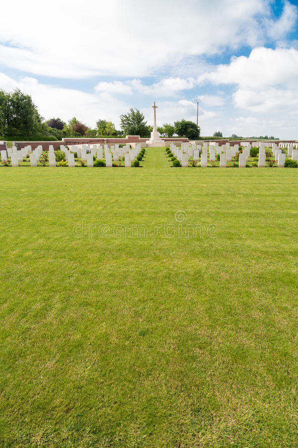 Fromelles Military Cemetery Royalty Free Stock Images