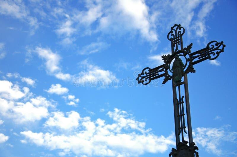 Frommes Kreuz stockbild