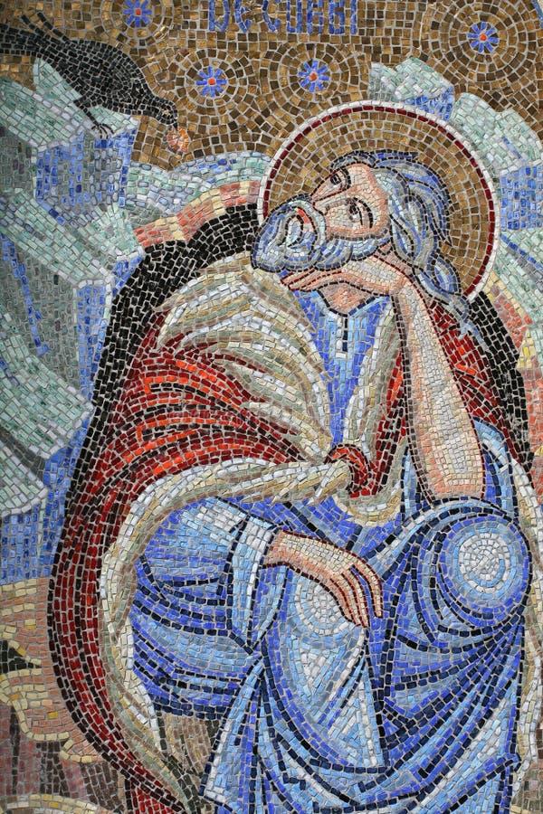 Frommes Mosaik stockbild