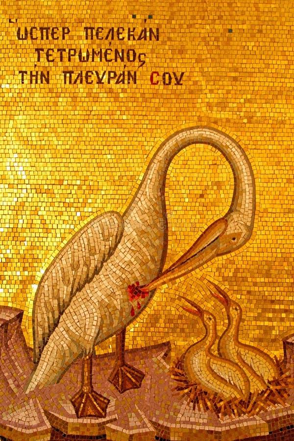 Frommes Mosaik im Kloster lizenzfreie stockbilder