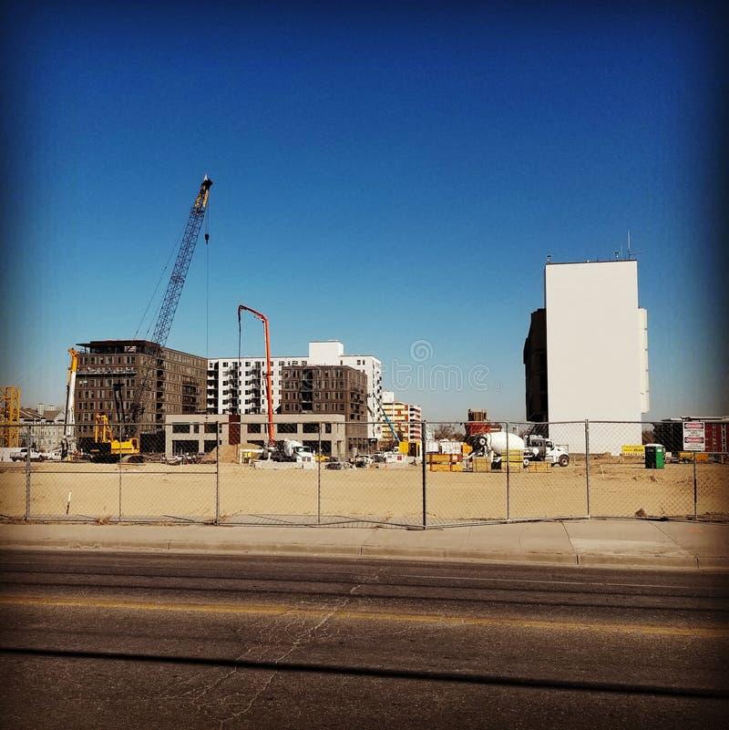 Fron de la construcción lejos foto de archivo