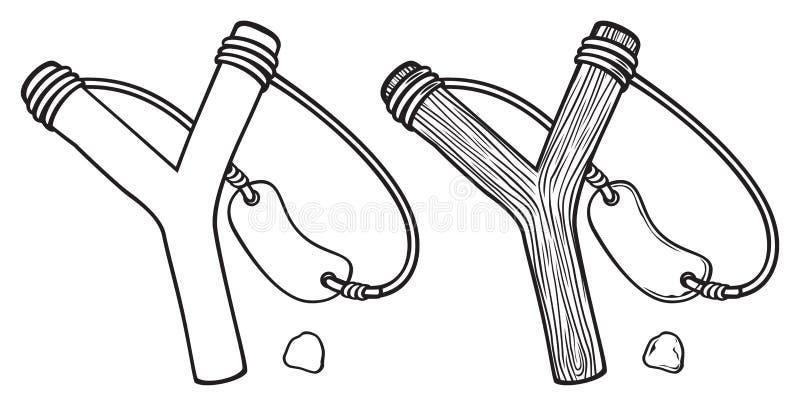 Fronde en bois illustration libre de droits