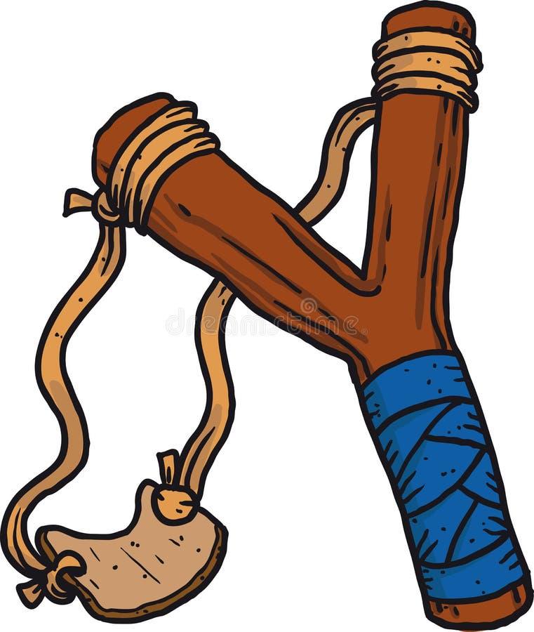 Fronde en bois d'enfant illustration libre de droits