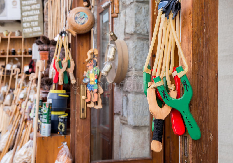 Fronde pour un souvenir, Arachova, Grèce image libre de droits
