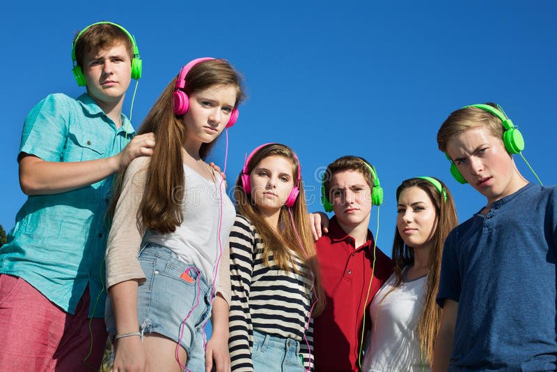 Fronsende Tieners royalty-vrije stock fotografie