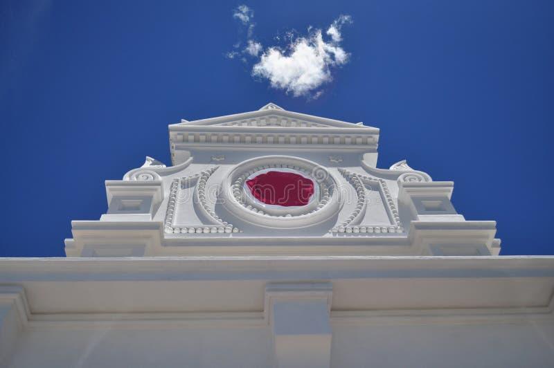 Frontão branco arquitetónico fotos de stock royalty free