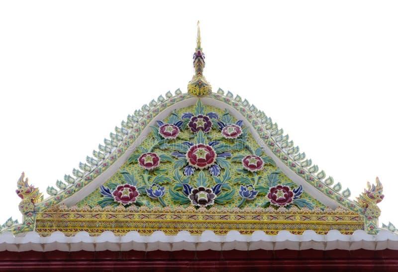 Frontão da classificação real tailandesa Salão de Nonthaburi foto de stock