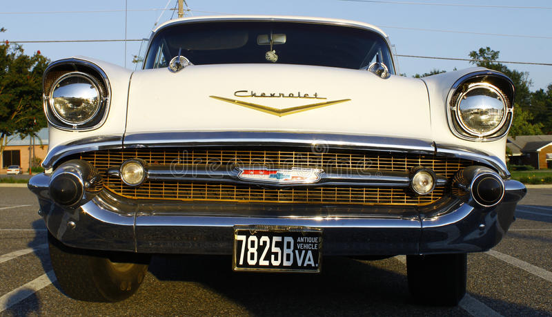 Front of a 57 Chevy royalty free stock image