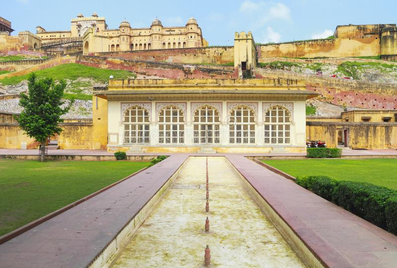 Front Of Amer Fort em Jaipur imagens de stock royalty free