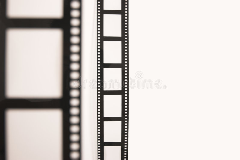 Front and back film stock photography
