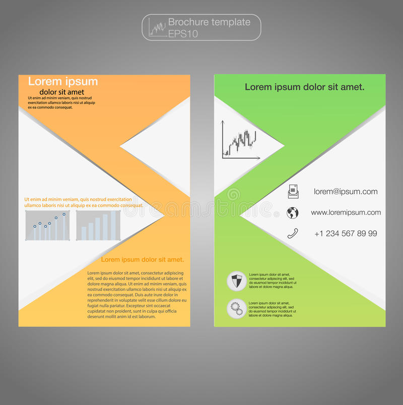 Front And Back Page Brochure Template Layout Template - 1 page brochure template