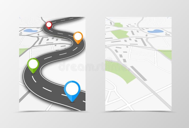 Front and back travel flyer template design vector illustration