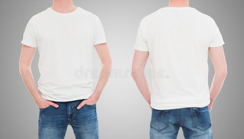 Front and back view tshirt template stock image image for White t shirt mockup
