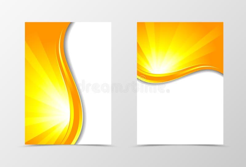 Front and back wave flyer template design stock illustration