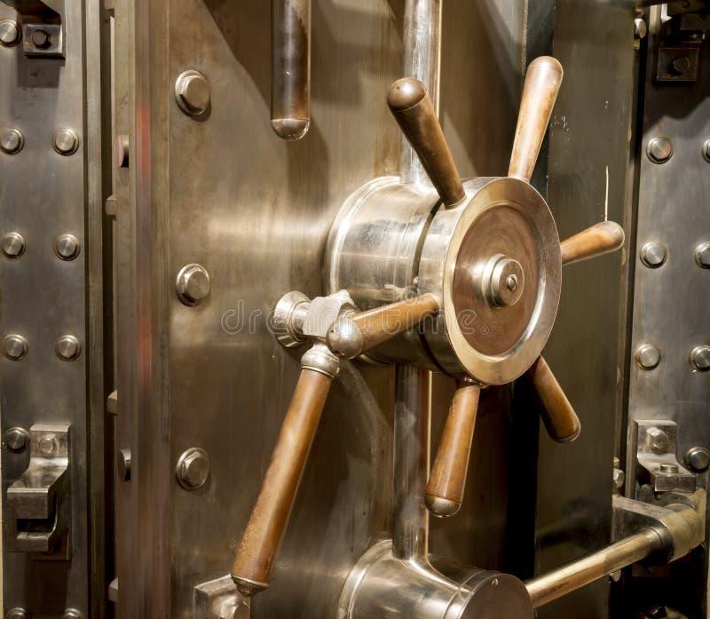 Front Of Bank Vault Massive Door Handle Combination Lock