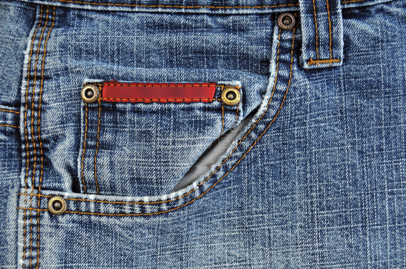 Download Front blue jeans pocket stock photo. Image of clothing - 11807286