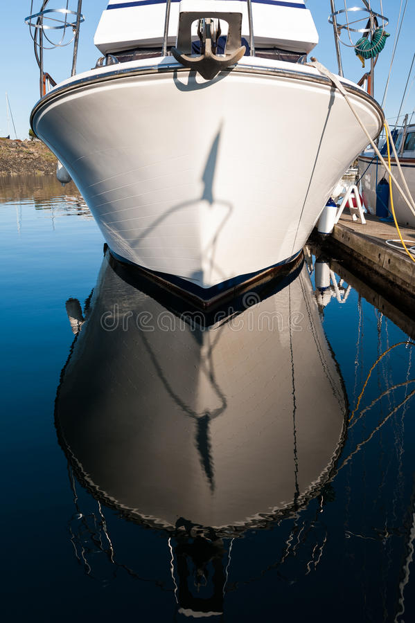 Front of boat anchored stock photography