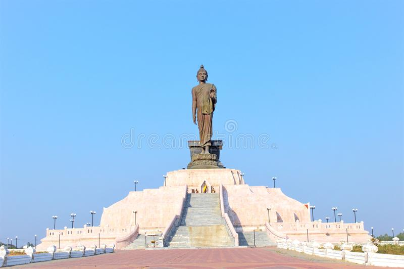 Front Buddha Stand Northeastern Thailand images libres de droits