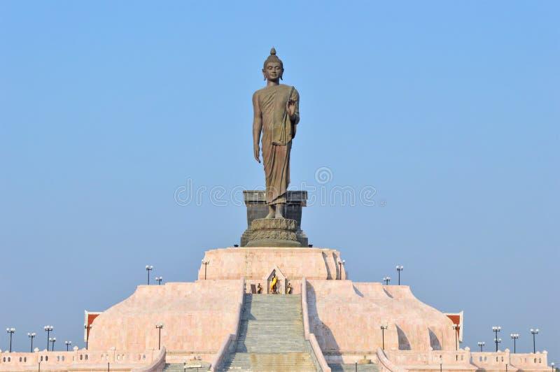 Front Buddha Stand Northeastern Thailand photo stock
