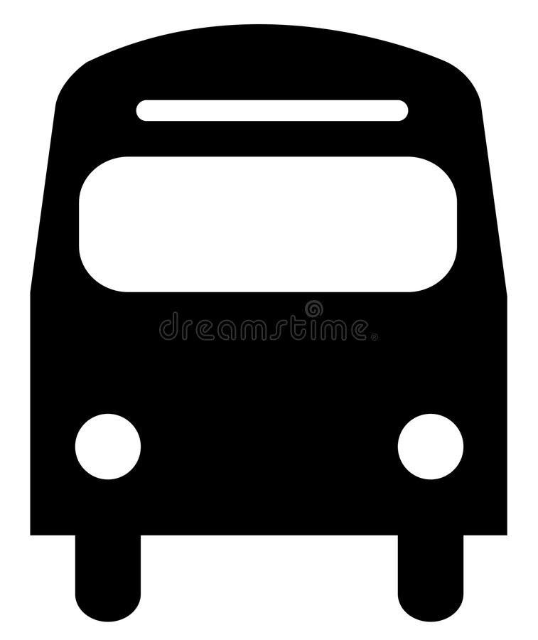 Download Front of a bus stock vector. Image of city, coach, concept - 5957721
