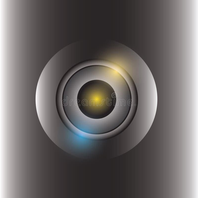 Front of camera lens vector. Is a general illustration stock illustration