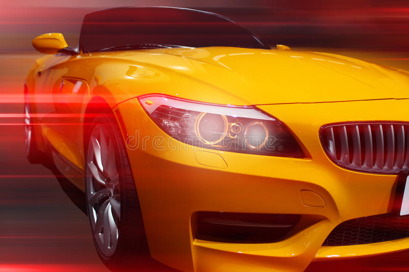 Front of a car stock image