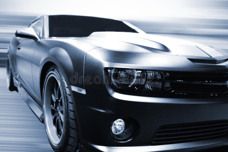 Front of a car royalty free stock photo