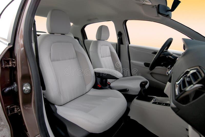Front car seats royalty free stock photos